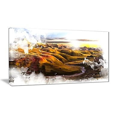 Designart – Imprimé sur toile, paysage, vallée des États-Unis (PT2817-32-16)