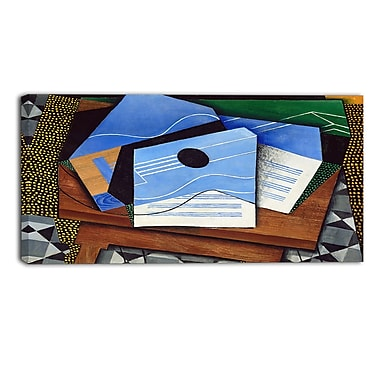 Designart Juan Gris, Guitar on a Table Canvas Art Print, (PT4678-40-20)