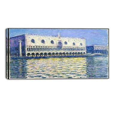 Designart Claude Monet, The Doges Palace Landscape Canvas Arwork, (PT4264-32-16)