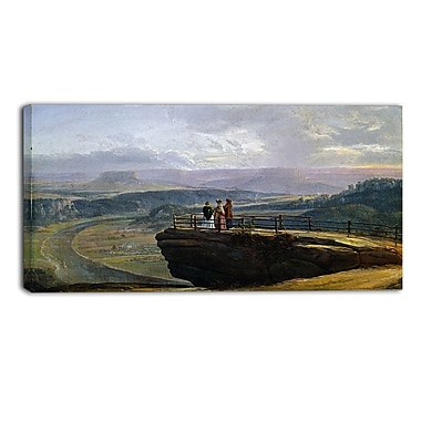 Designart JC Dahl, View from Bastei Canvas Art Print, (PT4572-32-16)