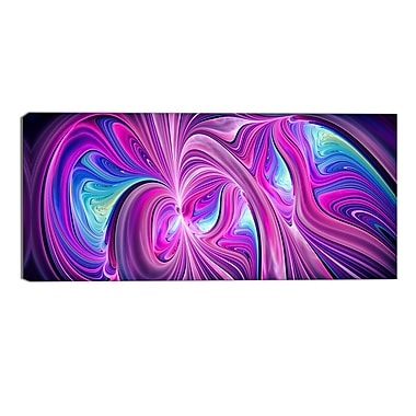 Designart Pink and Blue Wonder Contemporary Canvas Art, (PT3055-32-16)