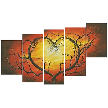 Designart Red St Valentines Canvas Art, (PT609-373)