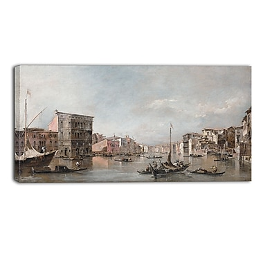 Designart Canaletto, The Grand Canal in Venice Canvas Art Print, (PT4200-40-20)