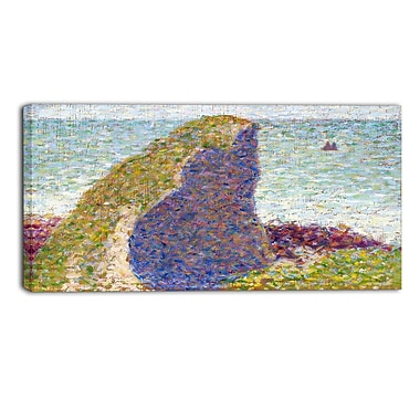 Design Art – Georges Seurat, Study for Le Bec du Hoc Grandcamp, impression sur toile