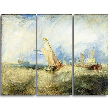 Designart JMW Turner, Going About to Please his Masters Canvas Art Print, (PT4611-3P)