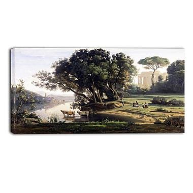 Designart – Paysage italien par Camille Corot, imprimé de paysage sur toile (PT4186-40-20)