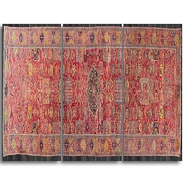 Designart – Toile imprimée, Le tapis Kevorkian, Hyderabad (PT4736-3P)