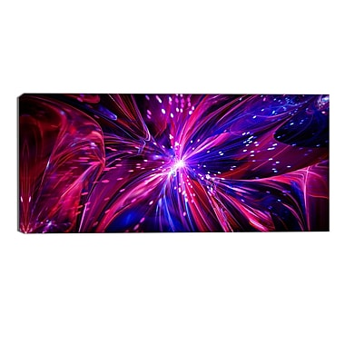 Designart Pink and Purple Dreams Come True Contemporary Canvas Art Print, (PT3068-32-16)