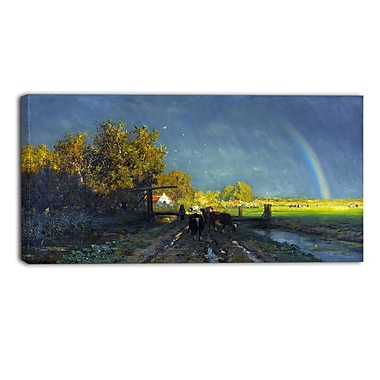 Designart Willem Roelofs, The Rainbow Canvas Art Print, (PT4999-32-16)