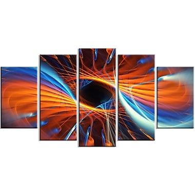 Designart – Imprimé sur toile, illustration centrale, 5 panneaux (PT3005-373)