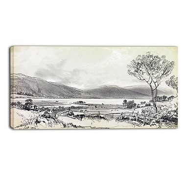 Designart Edward Lear, Bassenthwaite Landscape Canvas Art Print, (PT4340-32-16)