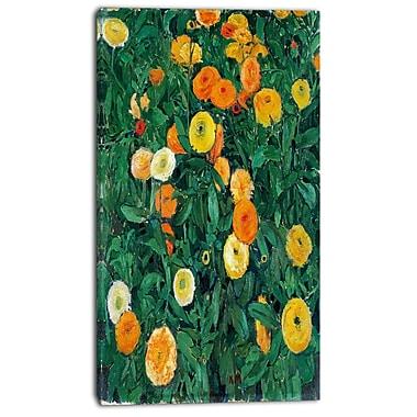 Designart – Toile imprimée, Fleurs de souci, Koloman Moser, 3 panneaux (PT4692-16-32)