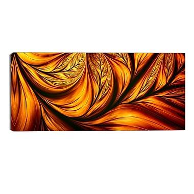 Designart – Impression sur toile, feuille dorée, art abstrait (PT3096-32-16)