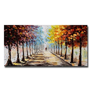 Designart Lets Go For A Stroll Landscape Forest Canvas Art Print, 40