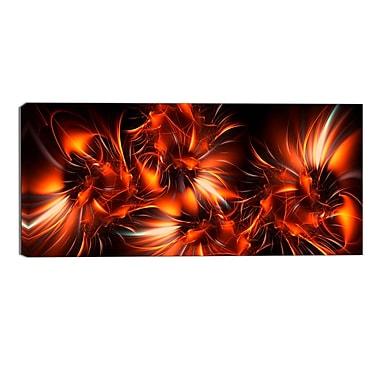 Designart – Impression contemporaine sur toile, explosion orange (PT3060-32-16)