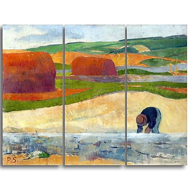 Designart Paul Serusier, Seaweed Gatherer Canvas Art Print, (PT4924-3P)