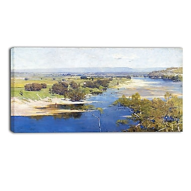 Design Art Arthur Streeton, The Purple Noons Transparent Might Canvas Art Print