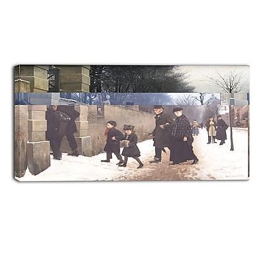 Designart – Imprimé sur toile, paysage, Des funérailles, Frants Henningsen (PT4391-40-20)