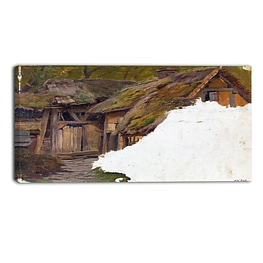 Designart Adolph Tideman, Study of an Old Farm Canvas Art Print, 3 Panels, (PT4101-40-20)