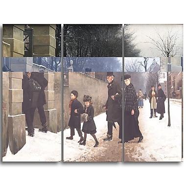 Designart – Imprimé sur toile, paysage, Des funérailles, Frants Henningsen (PT4391-3P)