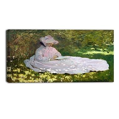 Designart – Tableau paysage imprimé sur toile, Le Printemps de Claude Monet (PT4258-32-16)