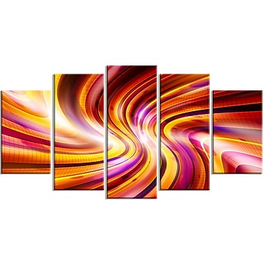 Designart Warm Rainbow Abstract Contemporary Canvas Art, (PT3051-373)
