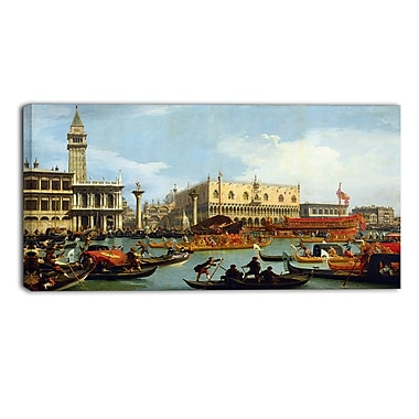 Designart Canaletto, Bucentaurs Return to the Pier Canvas Art Print, (PT4206-32-16)
