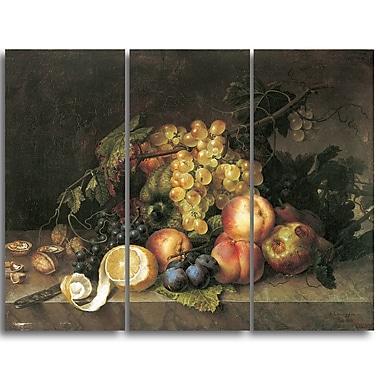 Designart – Francesc Lacoma i Fontanet, nature morte, imprimé sur toile, 3 panneaux (PT4380-3P)
