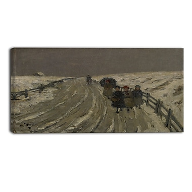 Designart James Wilson Morrice, Return from School Canvas Art Print, (PT4548-40-20)