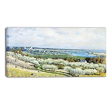 Designart Alfred Sisley, The Terrace at Saint-Germain Master Piece Landscape Artwork, (PT4132-32-16)