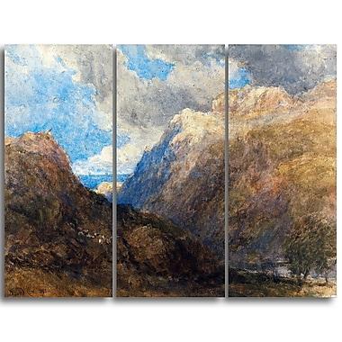 Designart – Tableau paysage imprimé sur toile, Penmanmawr de David Cox (PT4289-3P)