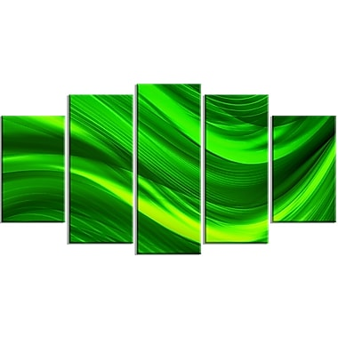 Designart Green Laser Canvas Art Print, (PT3038-373)