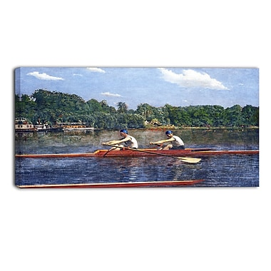 Designart Thomas Eakins, The Biglin Brothers Racing Canvas Art Print, (PT4944-32-16)