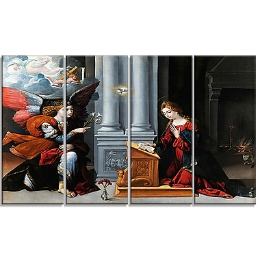 Designart Garofalo, Annunciation Canvas Art Print, (PT4408-271)