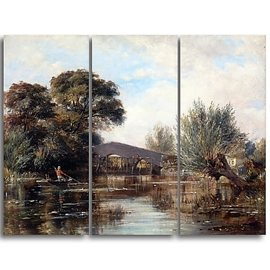 Designart Edward William, Godstow Bridge near Oxford Canvas Art Print, (PT4345-3P)