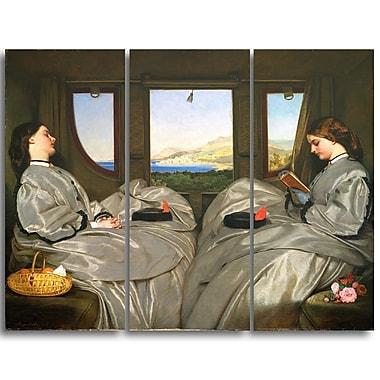 Designart Augustus Leopold Egg, The Travelling Companions Canvas Art Print, (PT4166-3P)