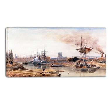 Designart Peter DeWint, Gloucester Canvas Art Print, (PT4831-40-20)