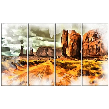 Designart Canyon de Chelly Canvas Art, (PT2818-271)