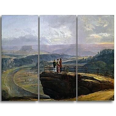 Designart JC Dahl, View from Bastei Canvas Art Print, (PT4572-3P)