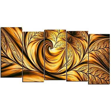 Designart Golden Dream 5-Panel Canvas Art Print, (PT3026-1084)