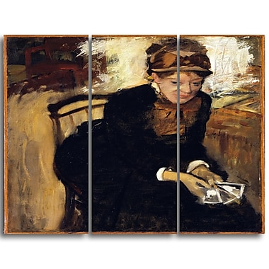Designart Edgar Degas, Mary Cassatt Canvas Art Print, (PT4313-3P)