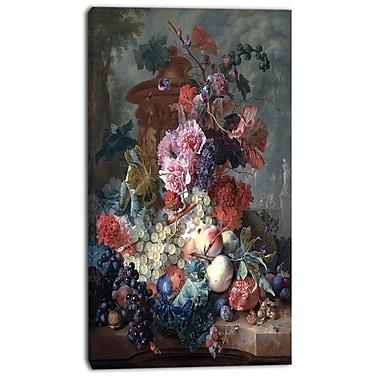 Designart – Jan Van Huysum, fruits, imprimé sur toiles, 3 panneaux (PT4556-16-32)