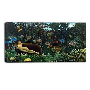 Designart – Henri Rousseau, Le Rêve imprimée sur toile, 3 panneaux (PT4496-40-20)