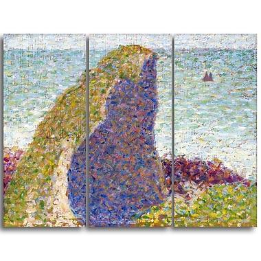 Designart – Georges Seurat, étude Le Bec du Hoc, Grandcamp, imprimée sur toile (PT4425-3P)