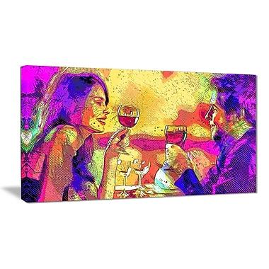 Designart – Art sensuel imprimé sur toile, trinquons (PT2916-32-16)