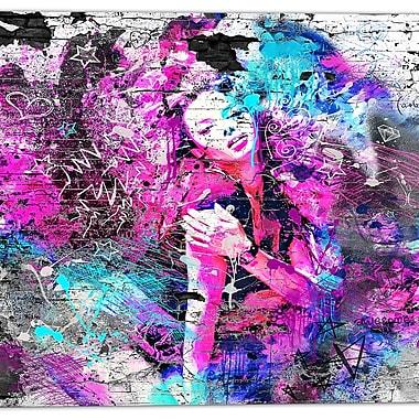 Designart – Art de rue sur toile, fille graffiti (PT3632-30-30)