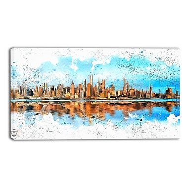 Designart City in America Cityscape Canvas Art Print, 40Wx20H Inches, (PT3311-40-20)