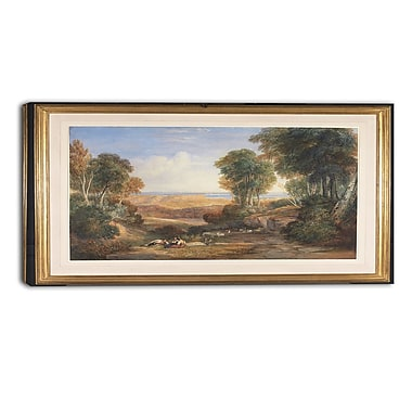 Designart David Cox, The Junction of the Severn and the Wye Landscape Canvas Arwork, (PT4283-32-16)