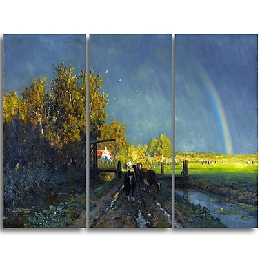 Designart Willem Roelofs, The Rainbow Canvas Art Print, (PT4999-3P)