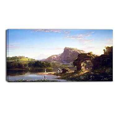 Designart Thomas Cole, LAllegro Canvas Art Print, (PT4937-32-16)